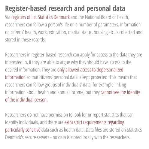 About register-based research and personal data